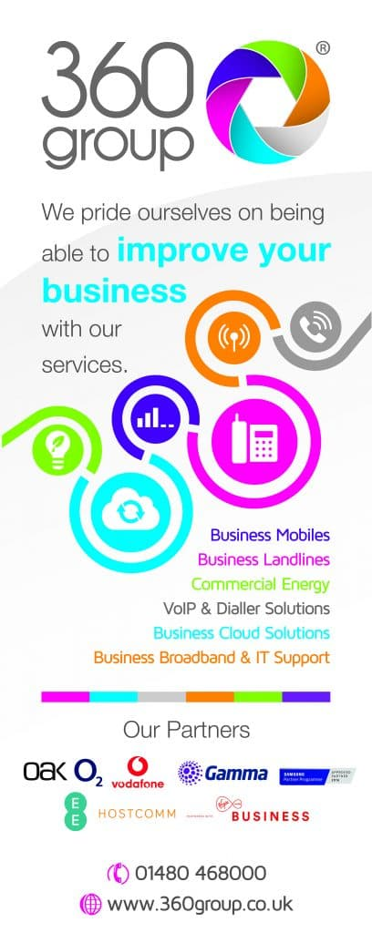 We also recently designed a new roller banner for 360 Group.